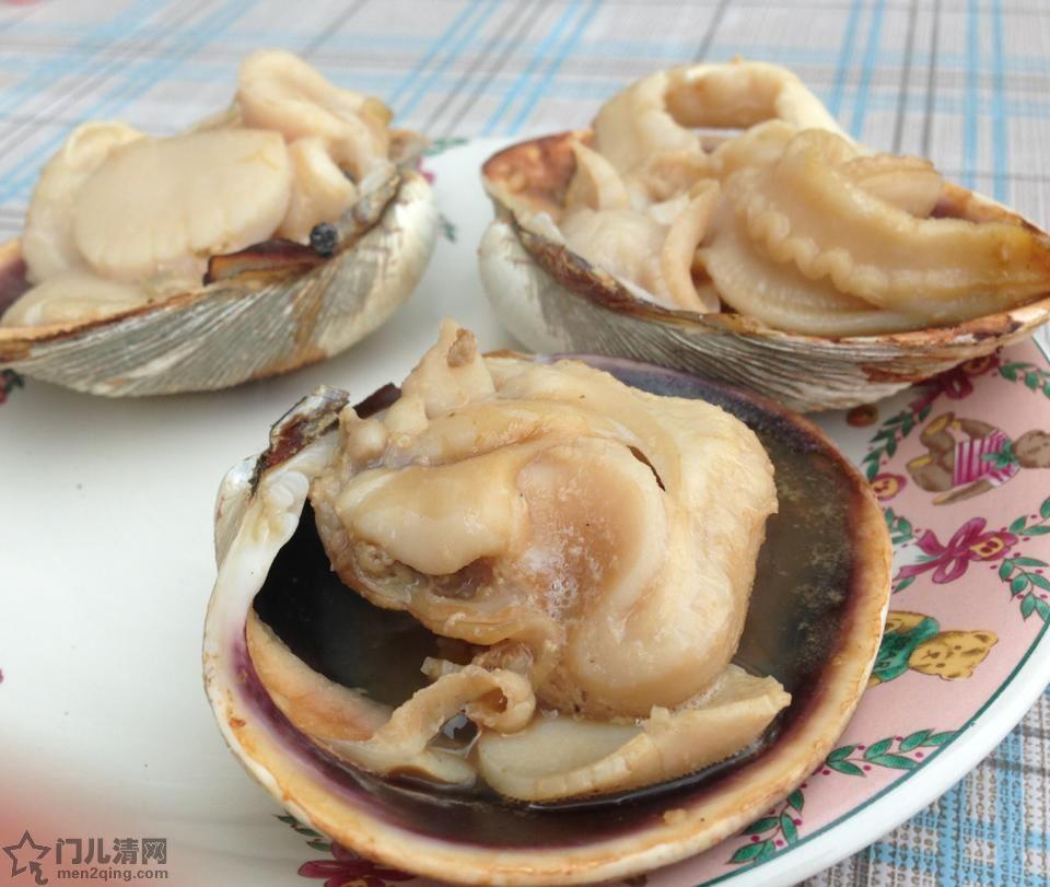 菜单:烧烤花蛤  - 焼き蛤(はまぐり)