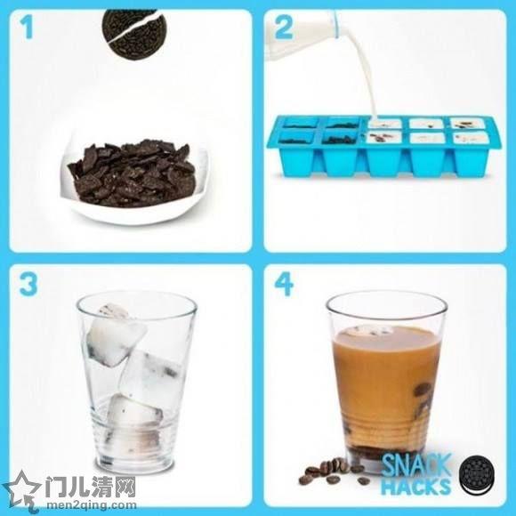 奥利奥口味冰牛奶咖啡(超简单)