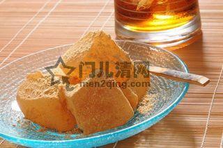 菜单:蕨粉凉糕(蕨餅)