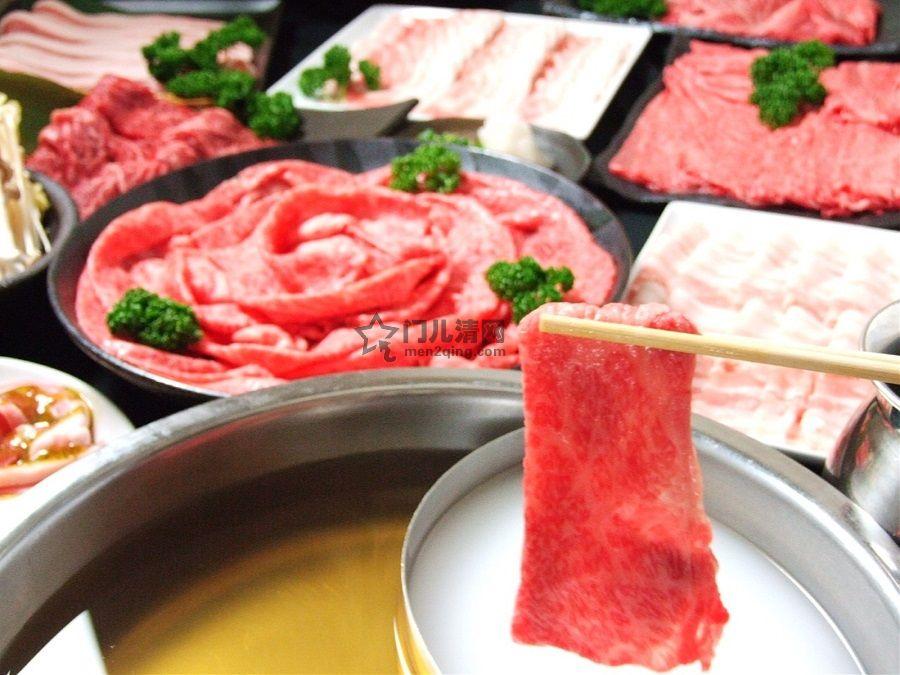 菜单:涮涮锅(しゃぶしゃぶ)