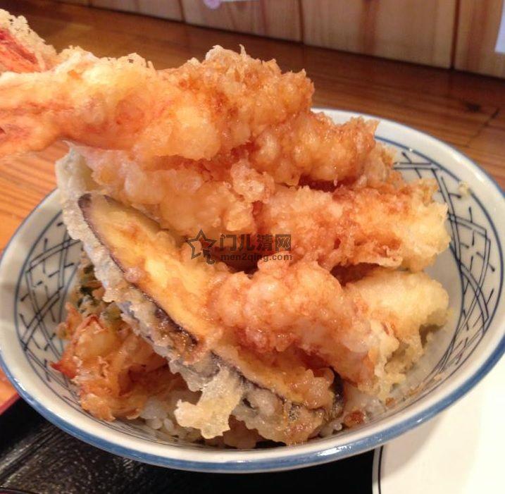 菜单:天妇罗盖浇饭(天丼)