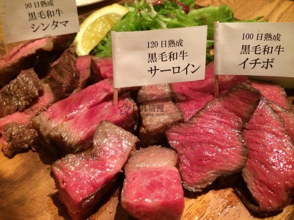 日本料理美食 旬的食材-肉类-熟成黑毛和牛肉,牛排,烤肉 (Dry Aging Beef) 图