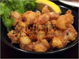 日本美食 日本料理菜单介绍:鸡脆骨(膝脆)唐扬(なんこつ唐揚)日本居酒屋的传统料理之一,也是人气的家常料理 图
