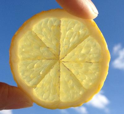 挤柠檬片的技巧