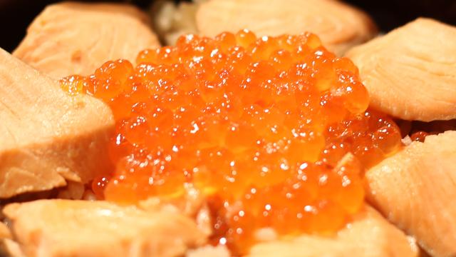 攻略:日本宫城乡土三文鱼亲子盖浇饭料理